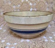 blue striped crockery
